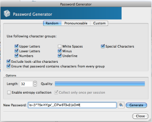 KeePassX Password Generator Utility