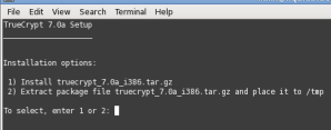 TrueCrypt installation in Linux