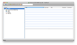 KeePassX Runnng on Mac OS X