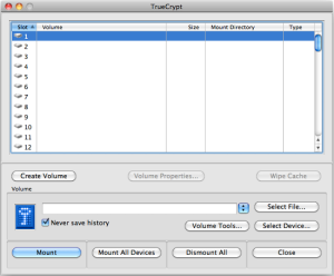 TrueCrypt application on Mac OS X