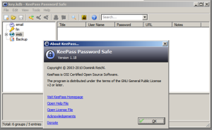 KeePass Running on Windows