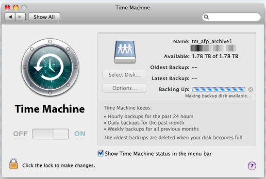 Old hardware, new life  Backing up with Time Machine on