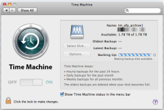 Time Machine using FreeNAS 9.2